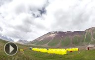 Video (timelapse): Base Camp surroundings (3600 M) at the foot of Lenin Peak