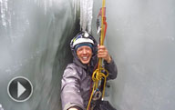 Video: Descent to the glacier's crevasse. The glacier from the inside.